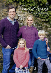 Hayfield Family Arans Book - Click HERE to view some of the patterns in this Book
