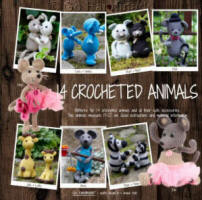 Go Handmade 14 Crocheted Animals Book
