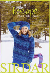 Escape Wool Rich Chunky Book - Click HERE to view some of the patterns in this Book
