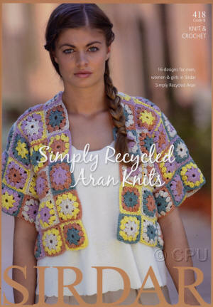 Sirdar Simply Recycled Aran Knits Book