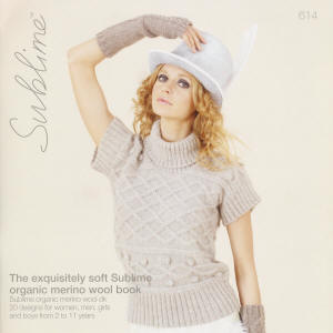 The exquisitely soft Sublime organic merino wool DK Book
