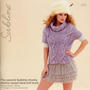The second Sublime chunky merino tweed hand knit Book