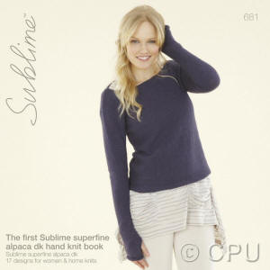 The first Sublime superfine alpaca dk hand knit Book