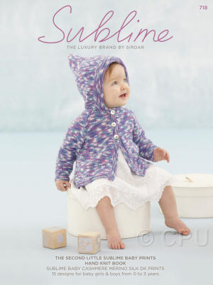 The second little Sublime baby prints hand knit Book