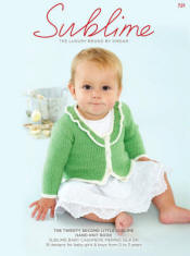 The twenty second little Sublime hand knit  Book 721 - Click HERE to view some of the patterns in this Book