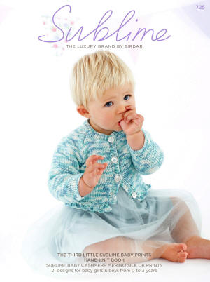 The third little Sublime baby prints hand knit Book