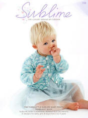 The third little Sublime baby prints hand knit Book 725 - Click HERE to view some of the patterns in this Book