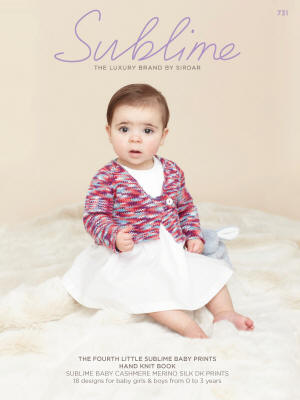 The Fourth little Sublime baby prints hand knit Book