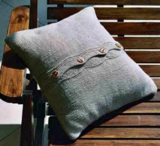 Eyelet Cushion Cover Back