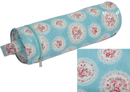 Cameo Floral Blue PVC Yarn & Needle Holder