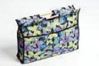 Black with Butterflies Print Craft Bag