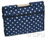 Navy with White Spots Craft Bag