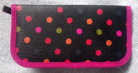 Pink Edging with Colourful Dots Crochet Hook Case