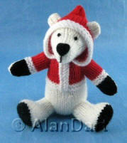 Percy Polar Bear knitted toy