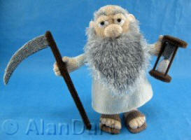 Old Father Time knitted toy