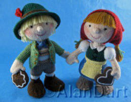 Hansel and Gretel knitted toys