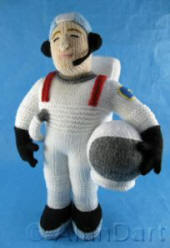 Spaceman  knitted toy