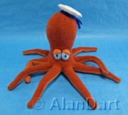 Octopus Sailor knitted toy