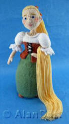 Rapunzel knitted toys