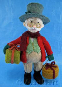 Grandpa Jolly knitted toys