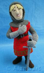 Sir Lancelot knitted toys