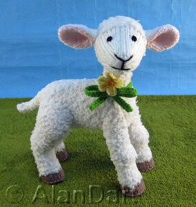 Primrose Lamb knitted toys