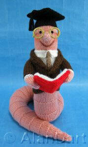 Bookworm knitted toys