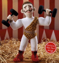 Strong Man knitted toys