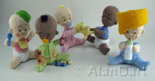 Bad Babies knitted toys