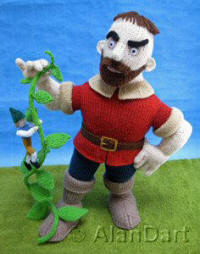 Jack and the Beanstalk knitted toys