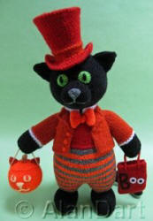 Scaredy Cat knitted toys