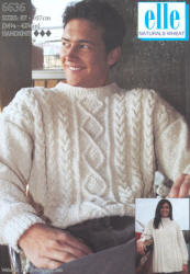 elle Naturals Wheat Aran Patterns