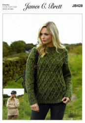 James C.Brett Highlander Chunky Patterns