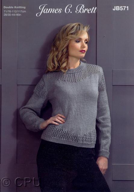 JB108 James C Brett Ladies Cardigan /& Waistcoat Double Knitting Pattern