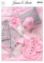 Cardigan, Blanket, Cushion, Hat & Mittens