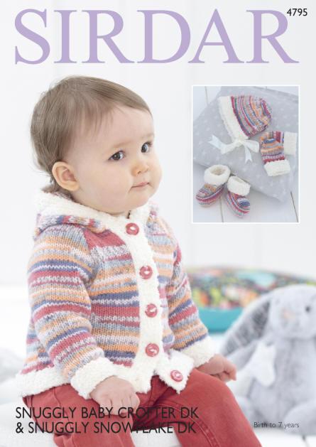 Sirdar Baby Blankets Snowflake Knitting Pattern 4608  DK Free UK P/&P S...