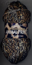 James C. Brett Flutterby Animal Print Super Chunky yarn