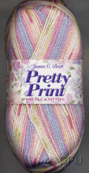 James C.Brett Pretty Print Double Knit yarn