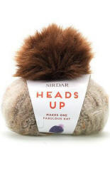 Sirdar Heads Up Hat Yarn and Pompom yarn